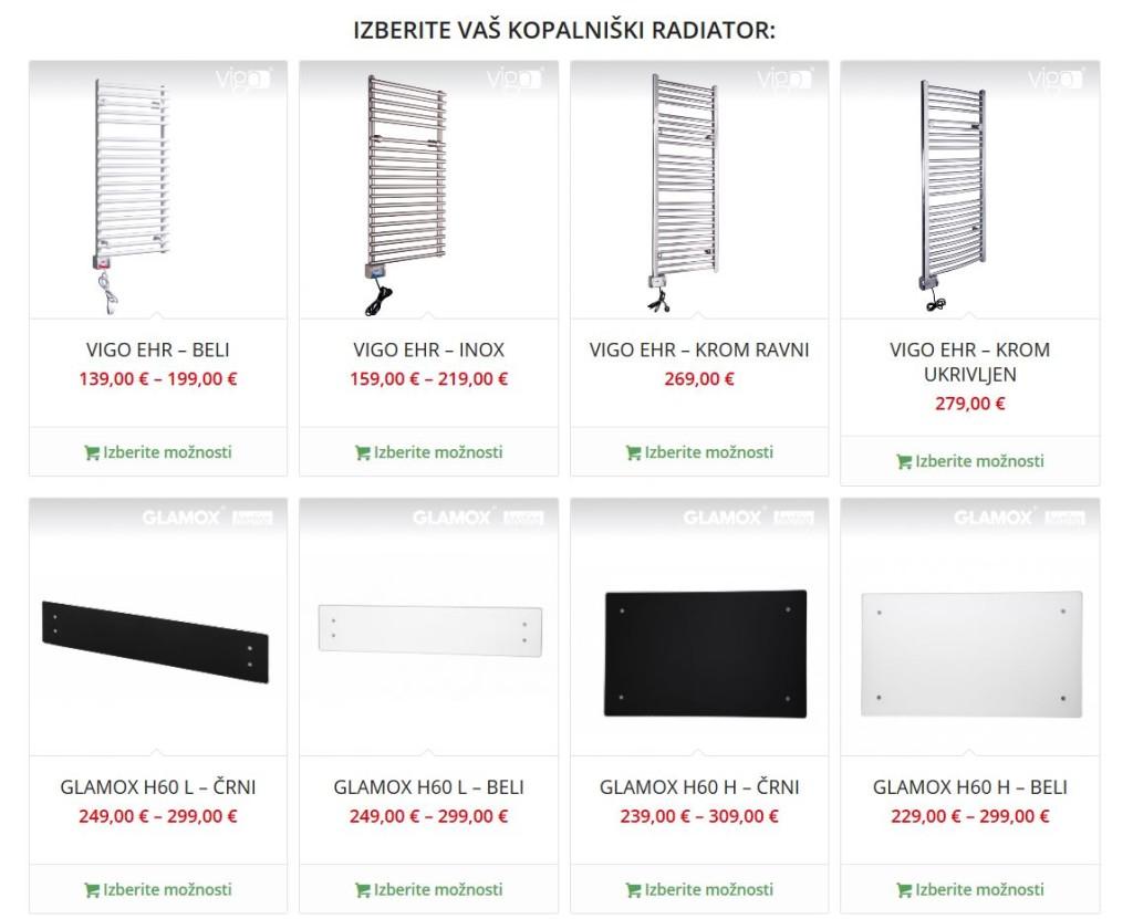 Trgovina - Kopalniški radiatorji Glamox & Vigo (www.silenos-ogrevanje.si)
